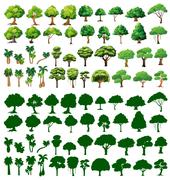 Silhoutte of trees Stock Illustration