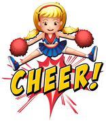 Cheer flash logo Stock Illustration