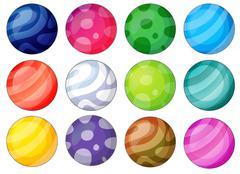 Ball diversity - stock illustration