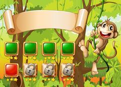 Monkey game design Stock Illustration