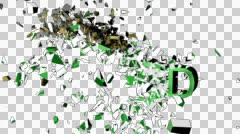 Price Reduced Exploding Text Animation in Slow Motion Stock Footage