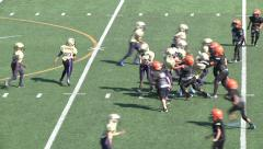 Pee Wee Youth League Mighty Mites Football-Long Run Tackle Stock Footage