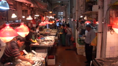 Macao. Vendors in the Red market in Macau Stock Footage