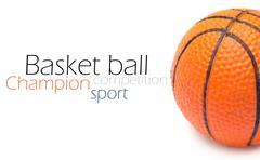 Orange basket ball, photo on the white background Stock Photos