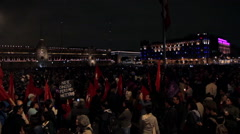 Crowd in a march protest for the 43 students disappeared in Ayotzinapa Guerrero. Stock Footage
