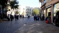 Stock Video Footage of Visitors in Ben Yehuda Street. Jerusalem. Israel