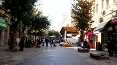 Visitors in Ben Yehuda Street. Jerusalem. Israel Stock Footage