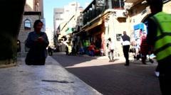 Old Jerusalem - Yoel Moshe Salomon street Stock Footage