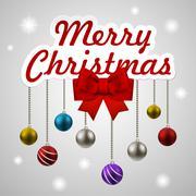 Stock Illustration of christmas decorating elements set