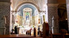 Church of St John the Baptist.  Ein Kerem. Jerusalem. Israel Stock Footage