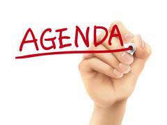Stock Illustration of agenda word written by hand