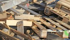 Wooden pallets highly flammable Stock Photos