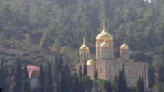 Stock Video Footage of Gorny Russian Orthodox convent, Ein Karem. Jerusalem. Israel