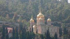 Gorny Russian Orthodox convent, Ein Karem. Jerusalem. Israel Stock Footage