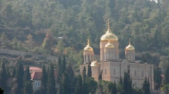 Gorny Russian Orthodox convent, Ein Karem - slow  motion HD video Stock Footage