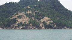 Tracking Shot Japanese Coastal Island 4K Stock Footage