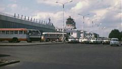 Kiev 1970s: Boryspill internation airport Stock Footage