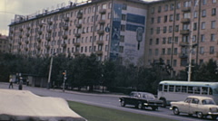 USSR 1970s: block of flats Stock Footage