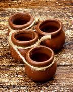 Pottery pots Stock Photos