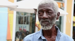 Brazilian man at Pelourinho in Salvador, Bahia. - stock footage