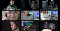 Video Wall Technology Themed Videos Stock Footage