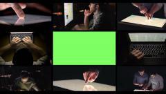 Loop Montage of People Computing Stock Footage