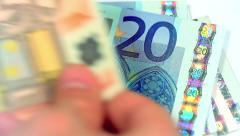 Counting Euro Banknotes - stock footage