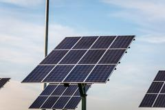 Renewable energy - solar panels Stock Photos