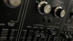 Vintage mono analog Synthesizer 1970's - 1980's Stock Footage