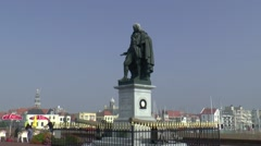 Statue of Michiel de Ruiter Stock Footage