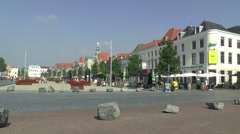 City centre of Vlissingen Stock Footage