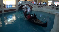 Macau. Recreated canals of Venice in the Venetian Macao Stock Footage