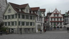 Switzerland Saint Gallen city square business 4K 114 - stock footage
