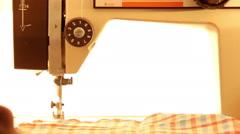 Sewing machine sews Stock Footage