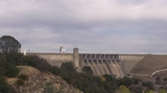 Folsom Dam in the distance Stock Footage