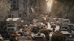 Traffic in Manhattan. Rush Hour. New York, USA. Stock Footage