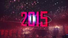 2015 fireworks light flare back Stock Footage