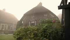 Giethoorn village by boat Stock Footage