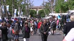 STREET MARKET, AIX EN PROVENCE, FRANCE Stock Footage