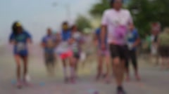 Stock Video Footage of Color run soft focus