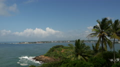 View from the Japanese Peace Pagoda in Galle, Sri Lanka - stock footage