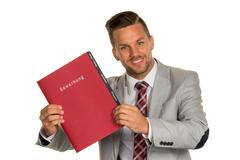 Man with application portfolio Kuvituskuvat
