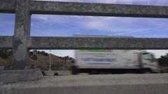 Driving Nimbus Dam Stock Footage