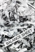 Scraps balance sheet Stock Photos