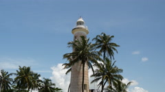 Lighthouse in Galle fort,  Sri Lanka Stock Footage