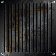 Metallic grille rusty background Stock Illustration