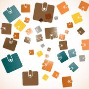 abstract background: purse - stock illustration