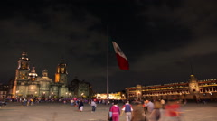 TIME LAPSE-FULL SHOT. Constitution Square in downtown. Stock Footage