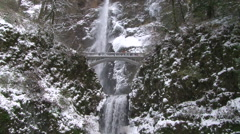 Winter Waterfall Stock Footage