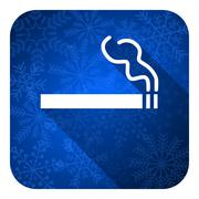 Cigarette flat icon, christmas button, nicotine sign. Stock Illustration